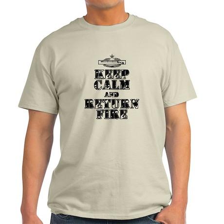 Keep calm and return fire Light T-Shirt