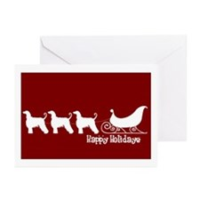 "Afghan Hound ""Sleigh"" Greeting Cards (Pk of 10"