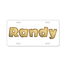 Randy Toasted Aluminum License Plate