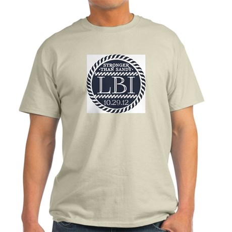"STRONGER THAN SANDY ""LBI"" Light T-Shirt"