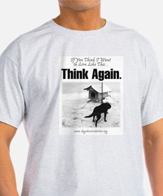 Think Again 'Ebb' Attire Ash Grey T-Shirt
