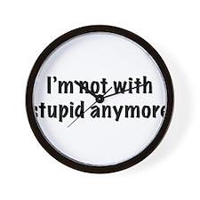 Stupid2.png Wall Clock
