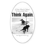 Think Again 'Ebb' Attire Oval Sticker