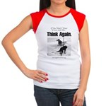Think Again 'Ebb' Attire Women's Cap Sleeve T-Shir