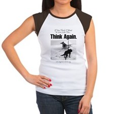 Think Again 'Ebb' Attire Women's Cap Sleeve T-Shir
