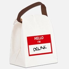HelloDrunk.png Canvas Lunch Bag