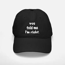 GodRight2.png Baseball Hat