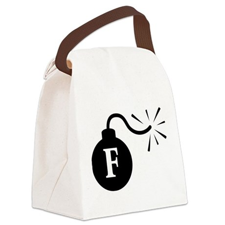 Fbomb2.png Canvas Lunch Bag