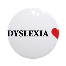 Dyslexia2.png Ornament (Round)