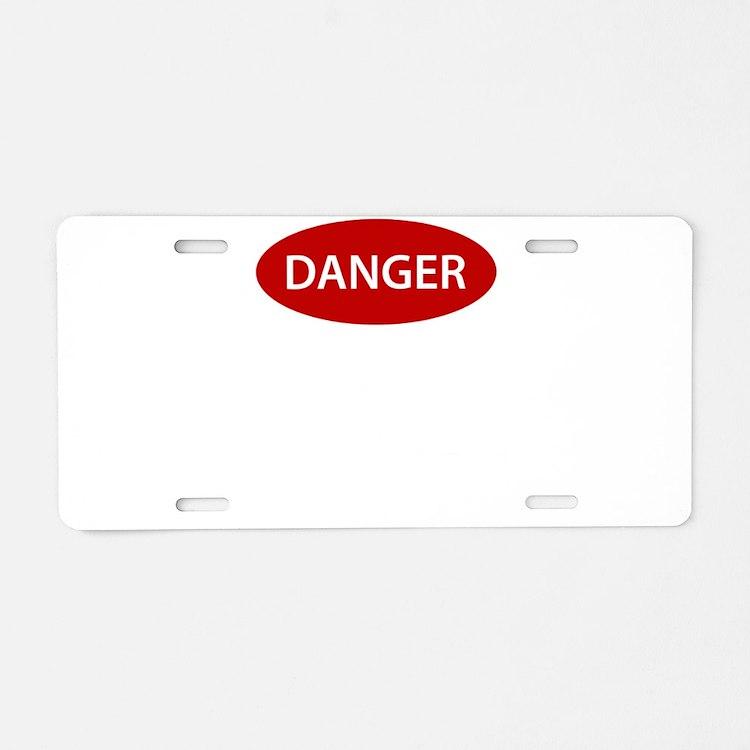 Danger2.png Aluminum License Plate