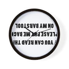 Barstool2.png Wall Clock