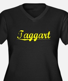 Taggart, Yellow Women's Plus Size V-Neck Dark T-Sh