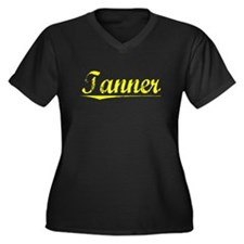Tanner, Yellow Women's Plus Size V-Neck Dark T-Shi