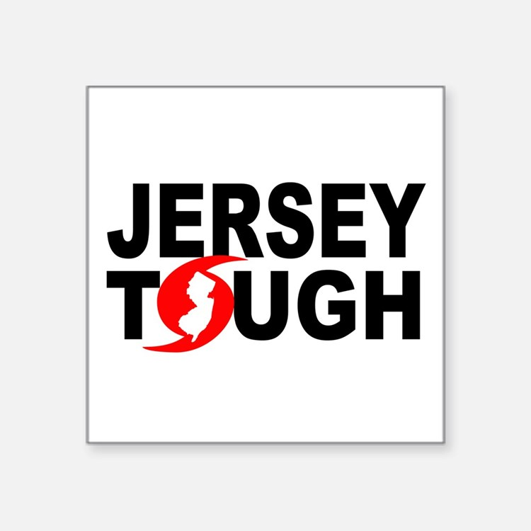 "Jersey Strong Square Sticker 3"" x 3"""
