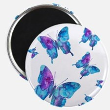 "Electric Blue Butterfly Flurry 2.25"" Magnet (10 pa"