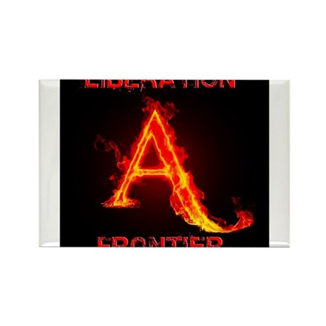 Animal Liberation Frontier Logo Rectangle Magnet