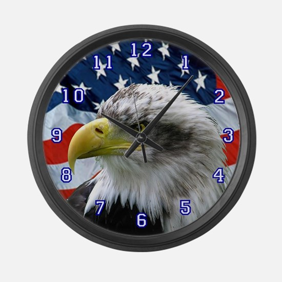 Cool Eagles Large Wall Clock
