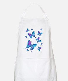 Electric Blue Butterfly Flurry Apron