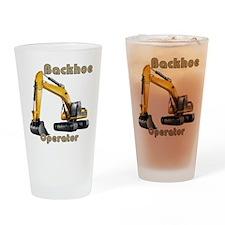 Backhoe Drinking Glass
