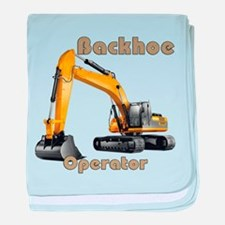 Backhoe baby blanket