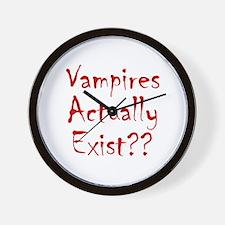 Vampires Actually Exist Wall Clock