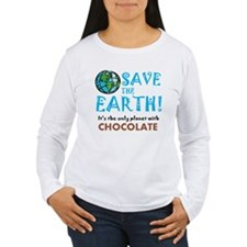 ART Save earth Chocolate Long Sleeve T-Shirt