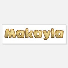 Makayla Toasted Bumper Car Car Sticker