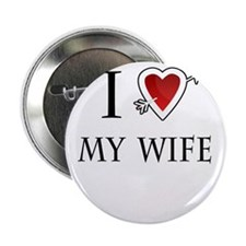 """i love my wife heart 2.25"""" Button"""