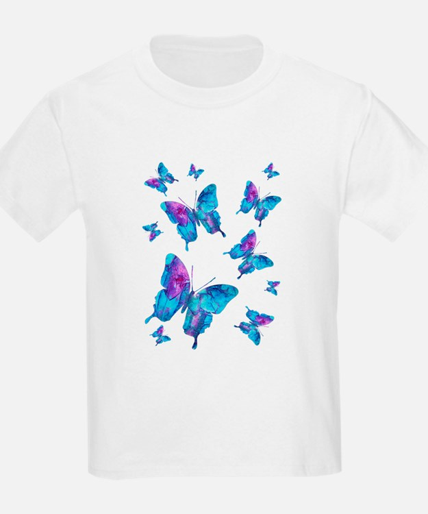 Electric Blue Butterfly Flurry T-Shirt