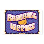 Baseball Hippies Sticker (Rectangle)