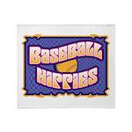 Baseball Hippies Throw Blanket