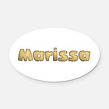 Marissa Toasted Oval Car Magnet