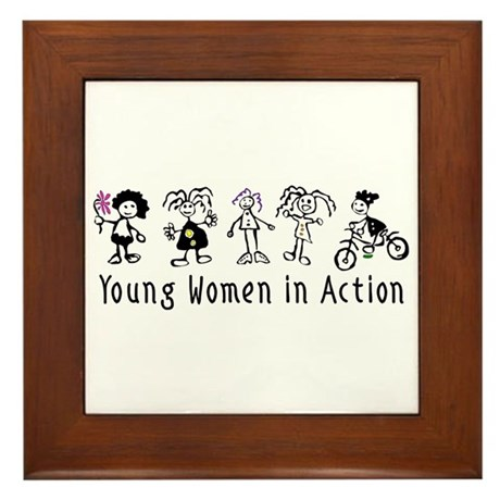 Young Women in Action Framed Tile