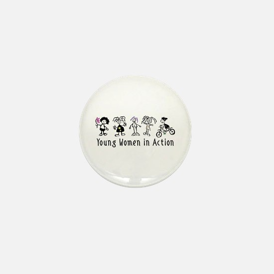 Young Women in Action Mini Button