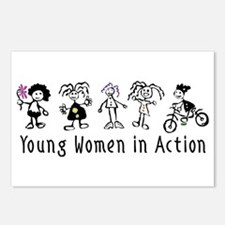 Young Women in Action Postcards (Package of 8)