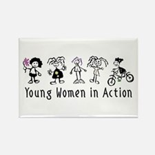 Young Women in Action Rectangle Magnet
