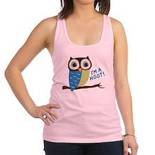 Owl Art I'm A Hoot Racerback Tank Top