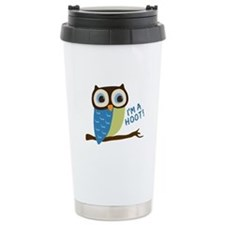 Owl Art I'm A Hoot Travel Mug