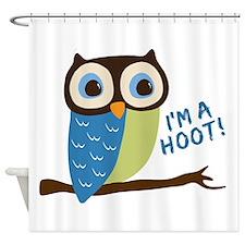 Owl Art I'm A Hoot Shower Curtain