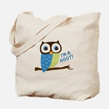 Owl Art I'm A Hoot Tote Bag
