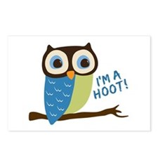 Owl Art I'm A Hoot Postcards (Package of 8)