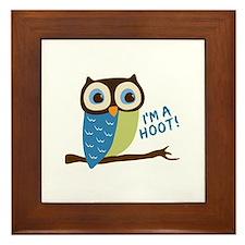 Owl Art I'm A Hoot Framed Tile