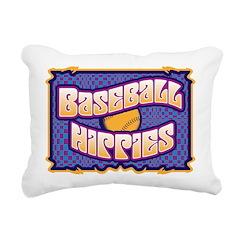 Baseball Hippies Rectangular Canvas Pillow