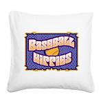 Baseball Hippies Square Canvas Pillow