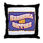 Baseball Hippies Throw Pillow