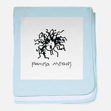 Pamela Means • self-portrait logo baby blanket