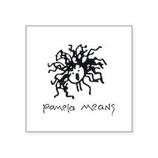 Pamela Means • self-portrait logo Square Sticker 3