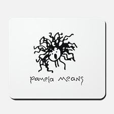 Pamela Means • self-portrait logo Mousepad