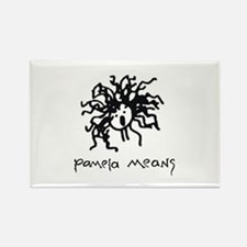 Pamela Means • self-portrait logo Rectangle Magnet