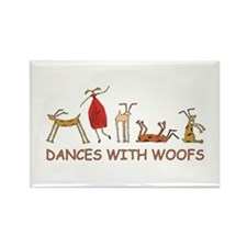 Dances w/ Woofs (female) Magnet